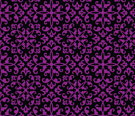 Contessa Damask - Perennial Purple fabric by pixeldust on Spoonflower - custom fabric
