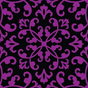 Contessa Damask - Perennial Purple