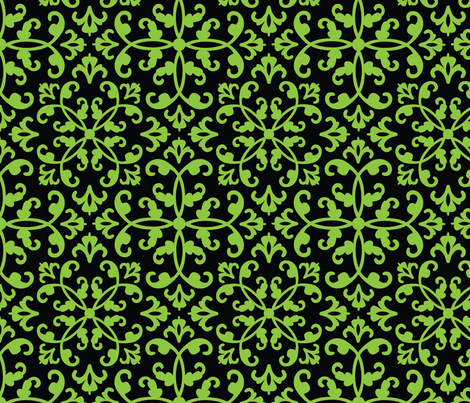 Contessa Damask - Easy Ivy fabric by pixeldust on Spoonflower - custom fabric