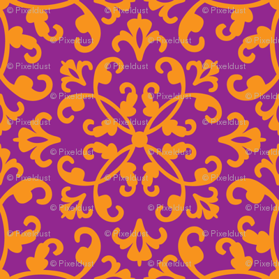 Contessa Damask - Royal Plume