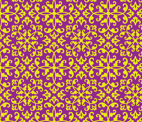 contessa - violet muse fabric by pixeldust on Spoonflower - custom fabric
