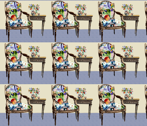 Tulip Tea Chair Companion fabric by karenharveycox on Spoonflower - custom fabric