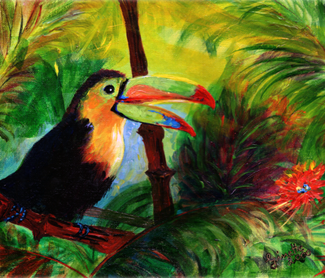 Toucan by Ginette - Focus On Nature Series fabric by ginette on Spoonflower - custom fabric