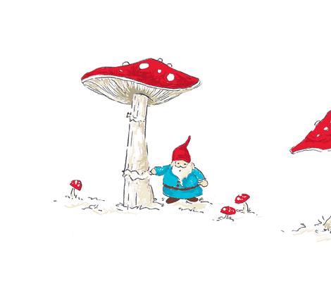 enchanted_gnome fabric by pocketful_of_pinwheels on Spoonflower - custom fabric