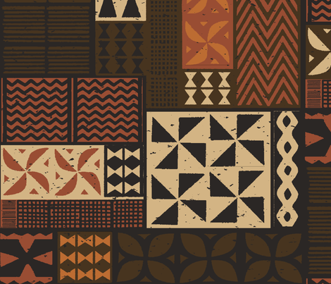 Hawaiian Tapa 1a fabric by muhlenkott on Spoonflower - custom fabric