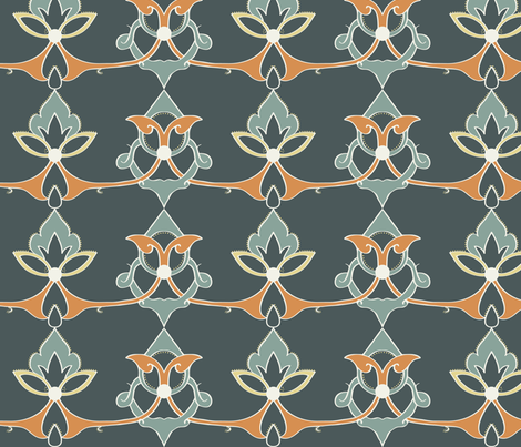 Arabic Manuscript Repeat fabric by kippygo on Spoonflower - custom fabric