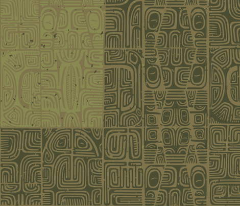 Marquesan 1c fabric by muhlenkott on Spoonflower - custom fabric