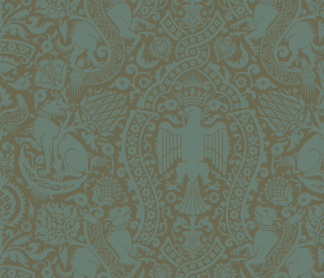 Damask 3c fabric by muhlenkott on Spoonflower - custom fabric