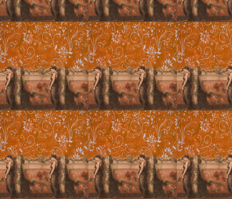Waterhouse digital manipulation fabric by vickijenkinsart on Spoonflower - custom fabric