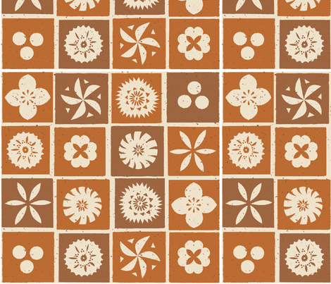 Fijian Tapa 1h fabric by muhlenkott on Spoonflower - custom fabric