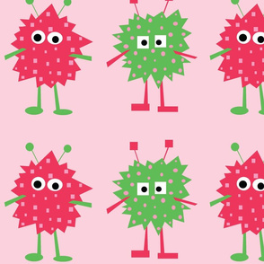 3_monsters_-_pink_and_green