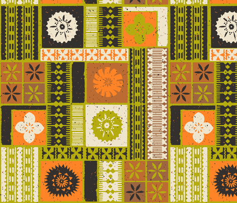 Fijian Tapa 2a fabric by muhlenkott on Spoonflower - custom fabric