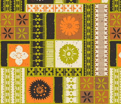 Fijian Tapa 2a fabric by muhlenkott on Spoonflower - custom fabric