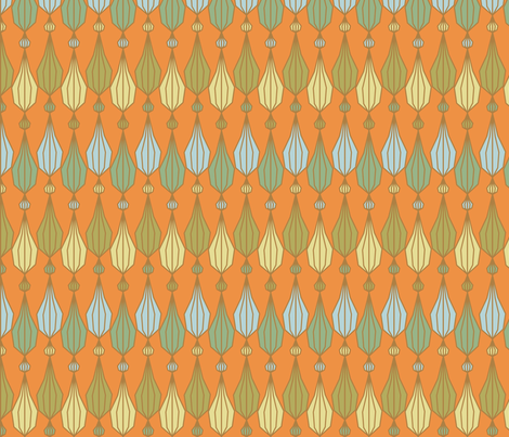 Retro Bead Curtain fabric by jasmo on Spoonflower - custom fabric