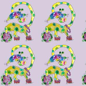 Gracie Giraffe Blanket Top Lavendar