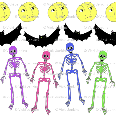 Halloween Collection 3 Boney Rainbow Skeletons