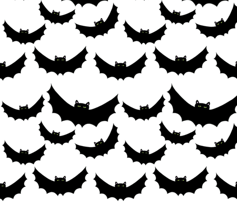 Halloween Collection 2 BATS fabric by vickijenkinsart on Spoonflower - custom fabric
