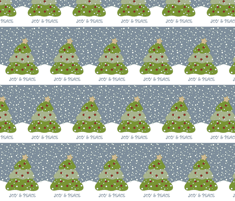 Christmas Tree Block fabric by weefolkart on Spoonflower - custom fabric