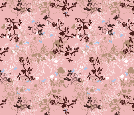 Layered_cute_bird_image fabric by rocking_horse_prints_ on Spoonflower - custom fabric