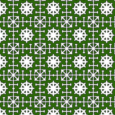 Ship to Shore - Green fabric by kristopherk on Spoonflower - custom fabric