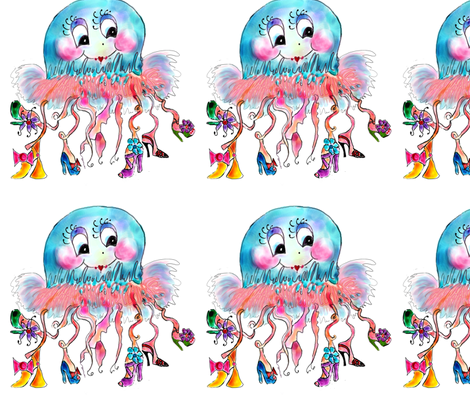 Jezebelle Jellyfish fabric by rosannahope on Spoonflower - custom fabric