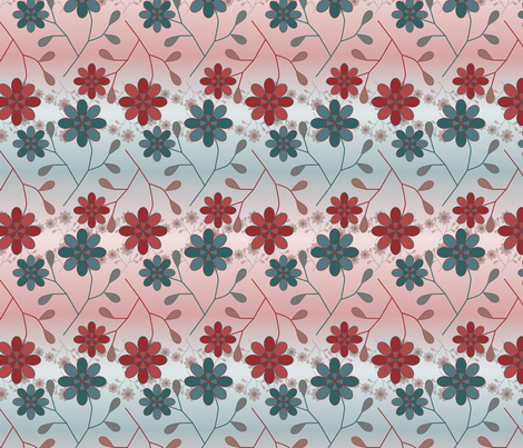 Flowerfade fabric by jasmo on Spoonflower - custom fabric