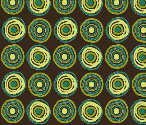 Messy Target, Turquoise fabric by natalie on Spoonflower - custom fabric