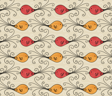 Fancy Fish fabric by natalie on Spoonflower - custom fabric