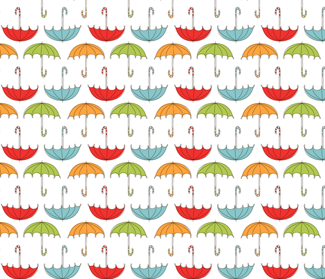 Umbrellas fabric by natalie on Spoonflower - custom fabric