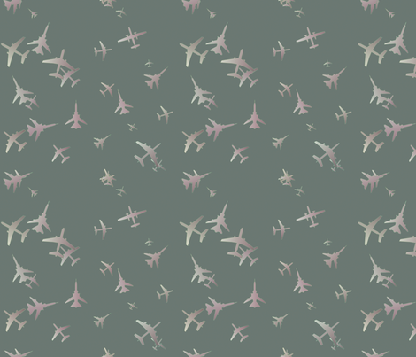 Flight-Grey-blue fabric by patsijean on Spoonflower - custom fabric