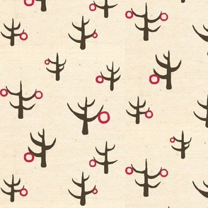 trees with earrings print