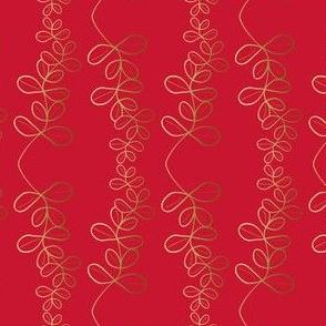 Garland Glitz - Garnet Red