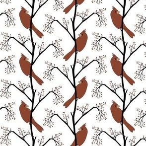 Winter Birds Herringbone