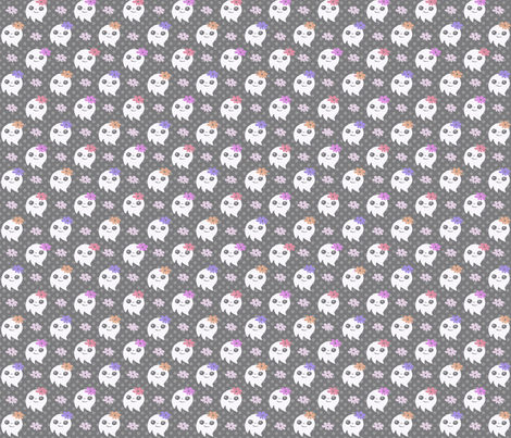 Flower Ghosties fabric by emilywhittaker on Spoonflower - custom fabric
