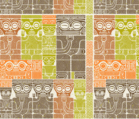 Tikis1c fabric by muhlenkott on Spoonflower - custom fabric
