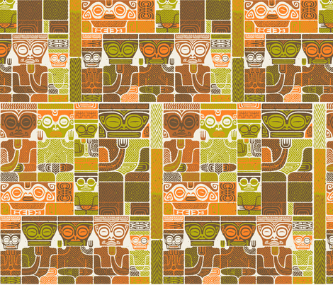 Tikis 1d fabric by muhlenkott on Spoonflower - custom fabric
