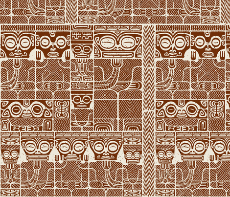 Tikis 1b fabric by muhlenkott on Spoonflower - custom fabric