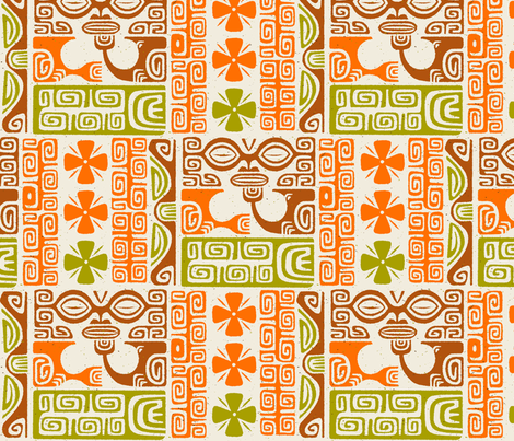 Tikis 2b fabric by muhlenkott on Spoonflower - custom fabric