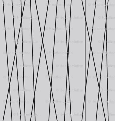 Linear Cross - Modern Geometric Lines Grey