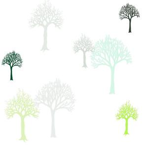 Trees Blu Green