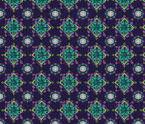 Gothic Pasifika: Fleur-de-lis Purple fabric by jessicasoon on Spoonflower - custom fabric