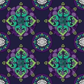 Gothic Pasifika: Fleur-de-lis Purple