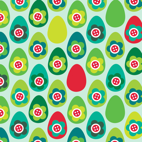 Red Egg fabric by spellstone on Spoonflower - custom fabric