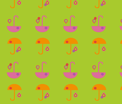 sunnyumbrellas-ed fabric by snork on Spoonflower - custom fabric