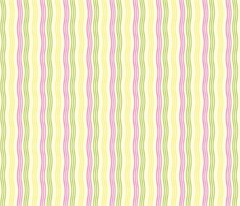 Pink_Green_Yellow_Stripe_for_Repeat fabric by cksstudio80 on Spoonflower - custom fabric