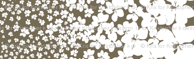 Magnolia Little Gem - Dark Spice - 1 yard panel