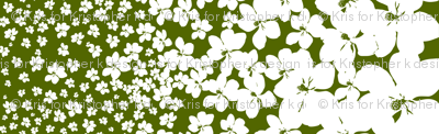 Magnolia Little Gem - Olive Green - 1 yard panel