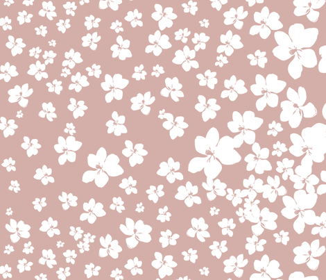 Magnolia Little Gem - Dusty Pink - 1 yard panel fabric by kristopherk on Spoonflower - custom fabric