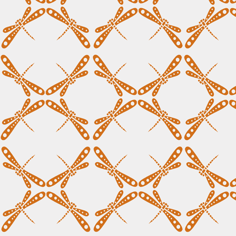 Dragonfly Dance - Tangerine fabric by kristopherk on Spoonflower - custom fabric