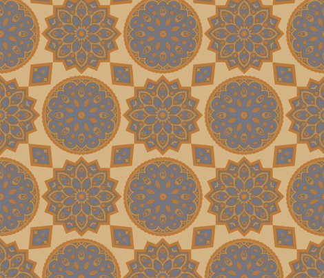 Tile 581a fabric by muhlenkott on Spoonflower - custom fabric